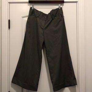 Express crop wide leg dress pants.